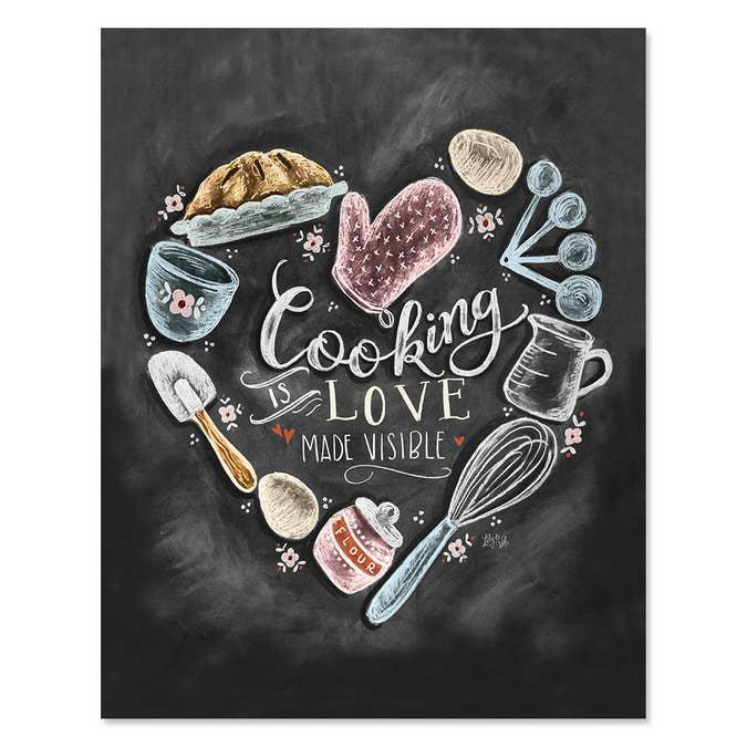 Cooking Is Love Made Visible - Print & Canvas 11x14 Canvas