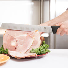 "Load image into Gallery viewer, Victorinox Fibrox Pro 12"" Granton Edge Wide Slicing Knife"