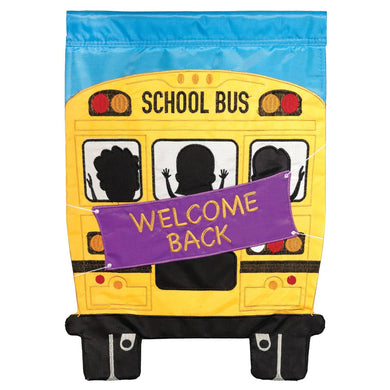 Welcome Back School Bus Flag