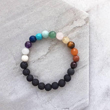 Load image into Gallery viewer, Skinny Chakra Aromatherapy Diffusing Bracelet