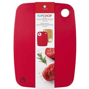 "Architec® FlipChop™ Board 11"" x 15"" (Red/Bamboo)"