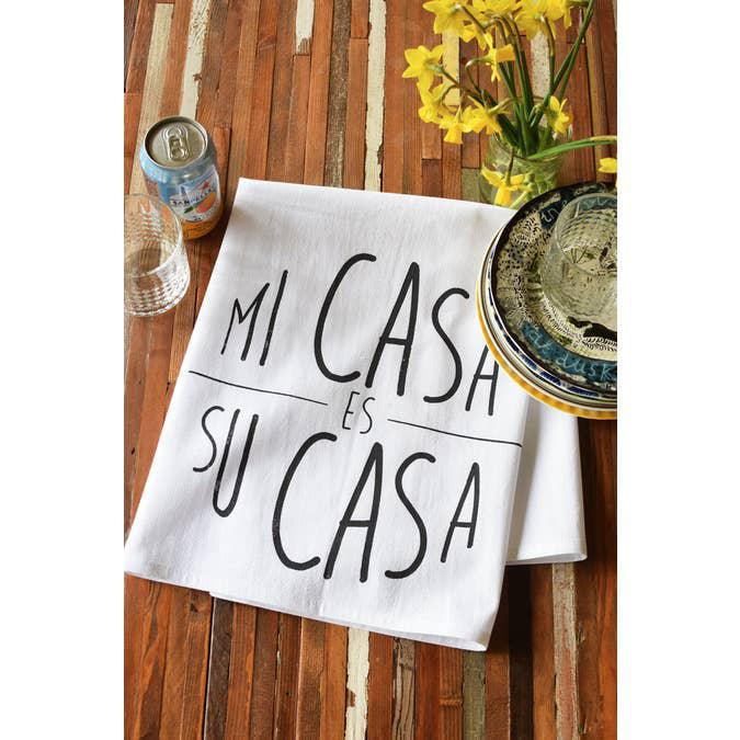 Mi Casa Tea Towel-Yellow Ink