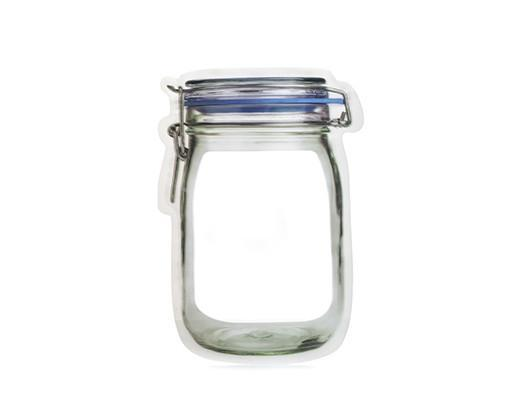 Kikkerland Zipper Mason Jar Large Bag