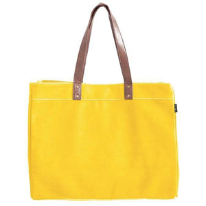 Waxed Mustard Canvas Carryall Tote