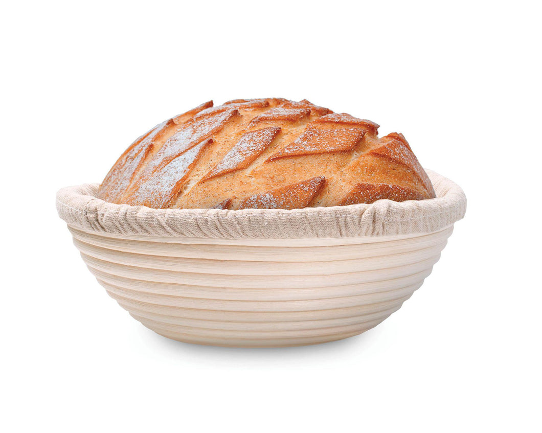 Mrs. Anderson's Baking Round Bread Proofing Basket w/ Liner