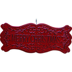 Metal Merry Christmas Sign
