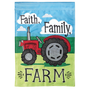 Tractor, Faith, Family and Farm Flag