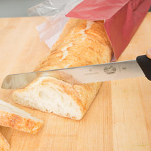"Load image into Gallery viewer, Victorinox Fibrox Pro 8"" Serrated Slanted Tip Bread Knife"