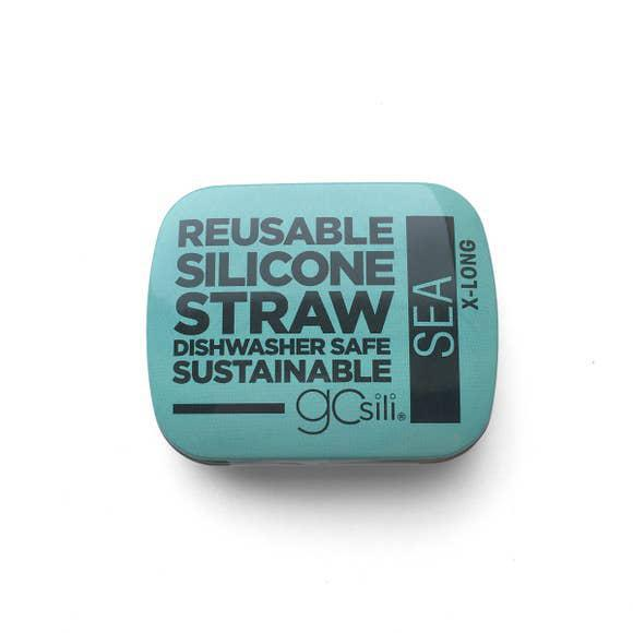 GoSili X-Long Straw Tin - Sea