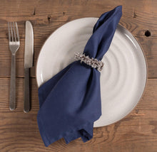 Load image into Gallery viewer, Chateau Easy Care Napkins - Set of 12-Blue
