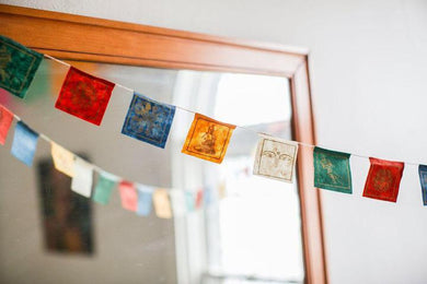 Set of 25 Lokta Paper Tibetan Garland Flags