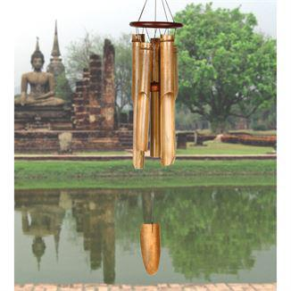 Woodstock Wind Chime Cocoa Ring Bamboo Chime - Large