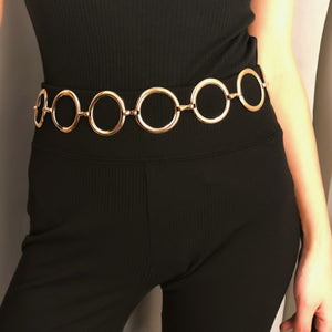 Gold Circle Chain Belt