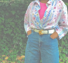 Load image into Gallery viewer, Vintage Pastel Floral Blouse