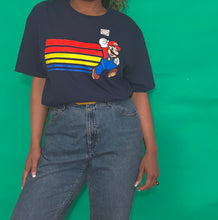 Load image into Gallery viewer, Navy Super Mario T-shirt