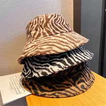 Load image into Gallery viewer, Brown Zebra Bucket Hat