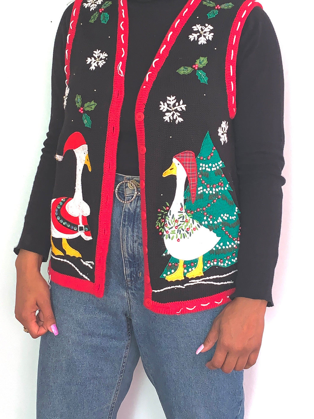 Vintage Christmas sweater vest
