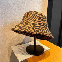 Load image into Gallery viewer, White Zebra Print Bucket Hat