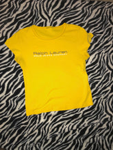 Load image into Gallery viewer, Thrifted Yellow Polo Ralph Lauren T-shirt