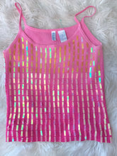 Load image into Gallery viewer, Vintage Sequin Pink Tank