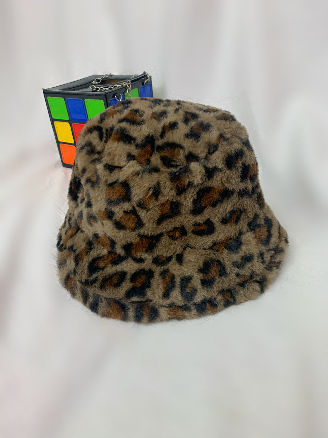 Cheetah Faux Fur Bucket Hat