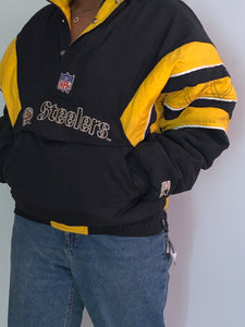 Old School Authentic Steelers Pullover Coat