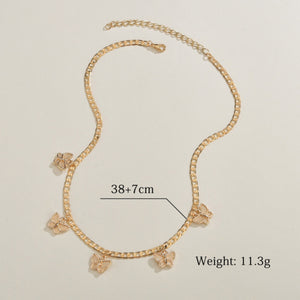 Gold Mini Butterfly Chain