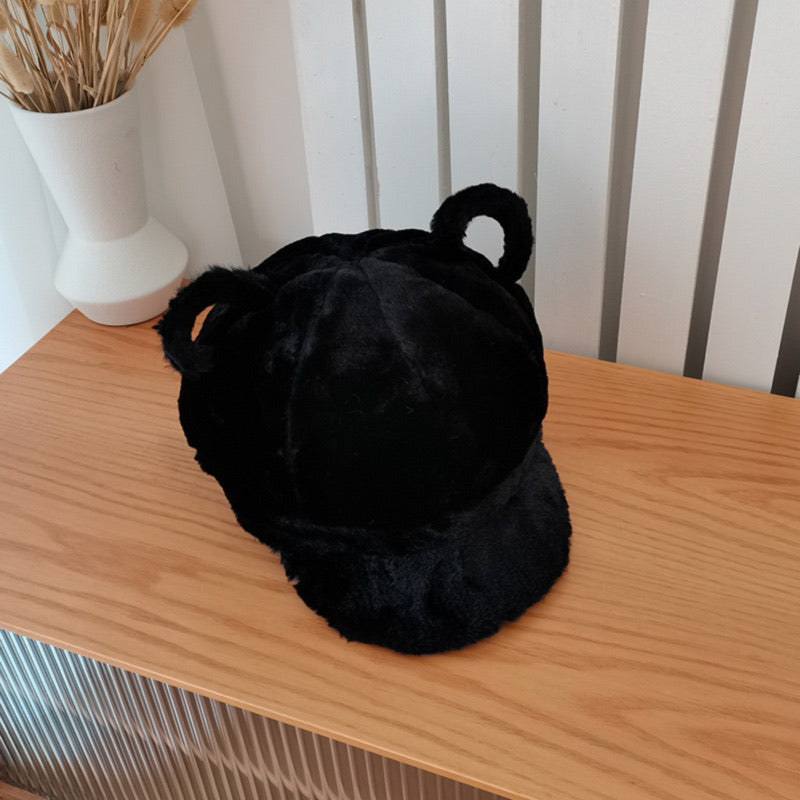 Bear Ears Faux Fur Cap