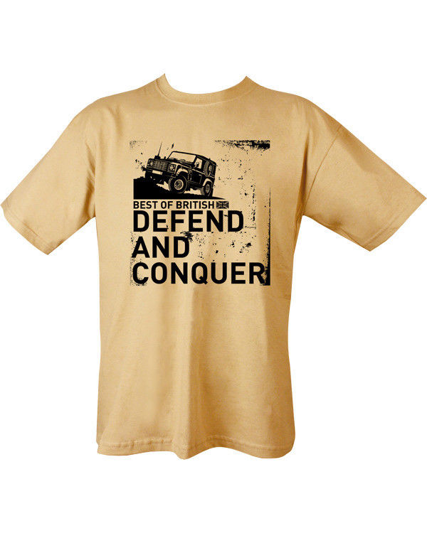 Kombat UK Military Defend and Conquer T-shirt - Sand