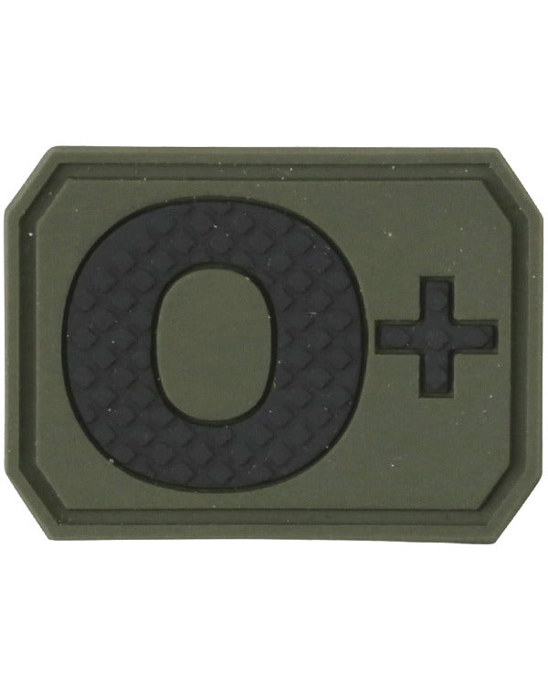 Kombat UK Military Blood Group Patch - O+