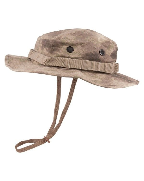 Kombat UK Military Boonie Hat - US Style Jungle Hat - Smudge Kam