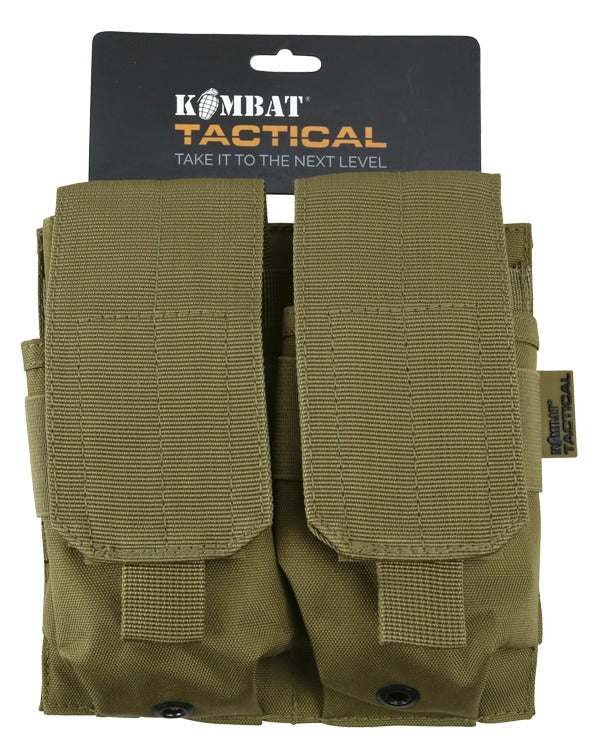Kombat UK Military Double ORIGINAL Style Mag Webbing Pouch - Coyote