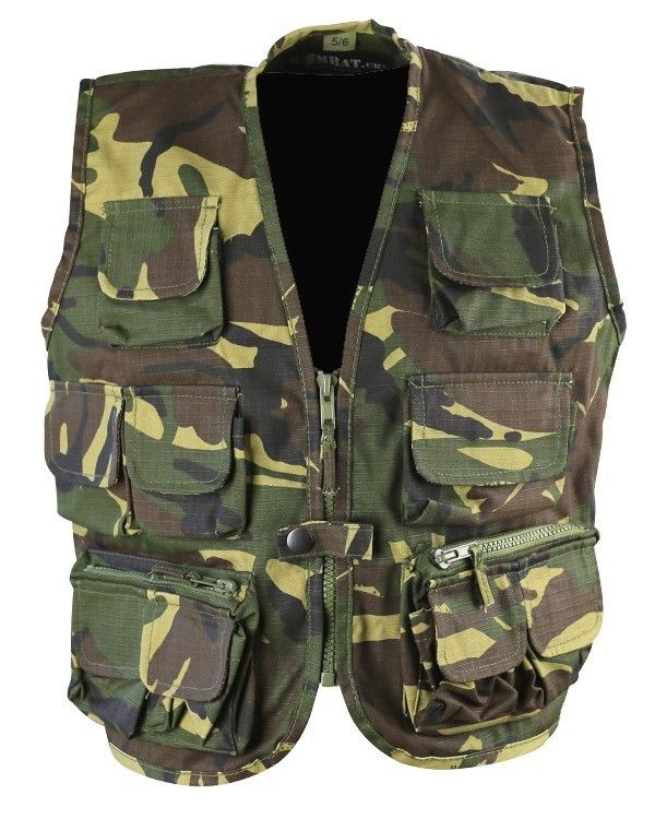 Kombat UK Military Kids Tactical Vest - British DPM/Camo