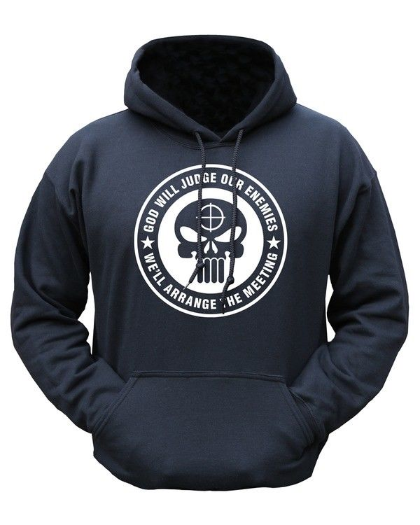 Kombat UK Military God Will Judge HOODIE - Black