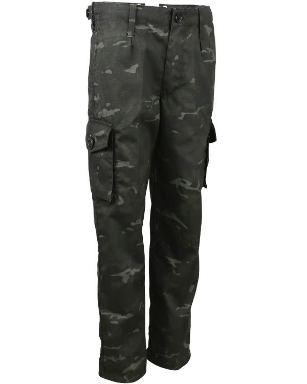 Kombat UK Military Kids Trouser - BTP Black