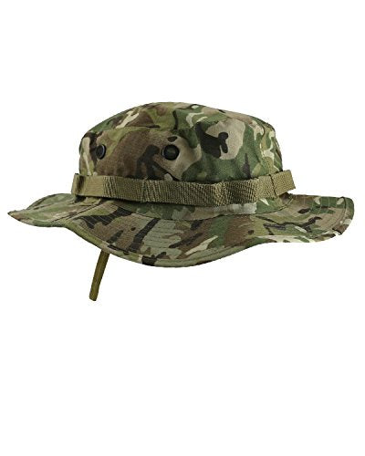Kombat UK Military Boonie Hat - US Style Jungle Hat, BTP/British Terrain Pattern