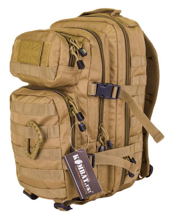 Kombat UK Military Small Molle Assault Pack 28 Litre Rucksack - Coyote