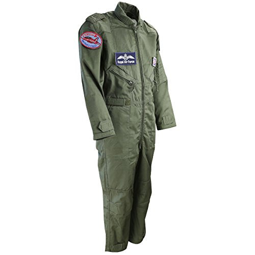 Kombat UK Military Kids RAF Airforce Flight, Flying Suit in Olive Green