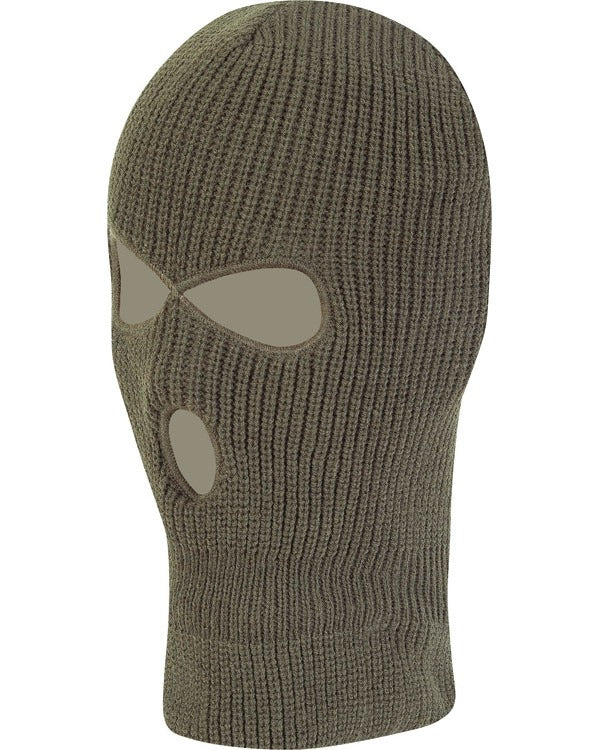 Kombat UK Military 3 Hole Balaclava - Olive Green