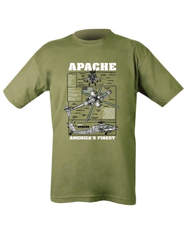 Kombat UK Military Apache T-shirt - Olive Green (New Design)