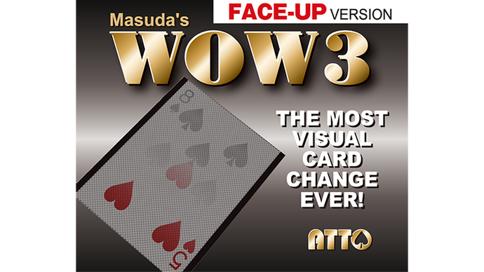 WOW 3 Face-Up (Gimmick and Online Instructions) by Katsuya Masuda - Trick