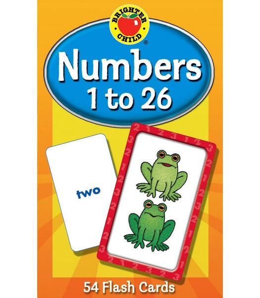 Numbers 1 to 26 Flash Cards (Brighter Child)