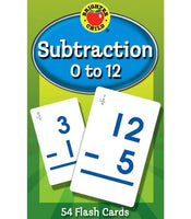Subtraction 0 to 12 Flash Cards (Brighter Child)
