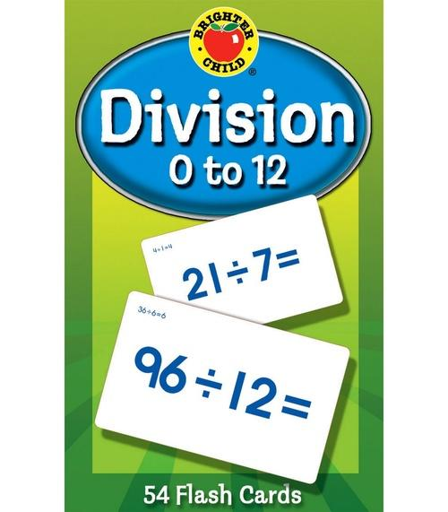 Division 0 to 12 Flash Cards (Brighter Child)