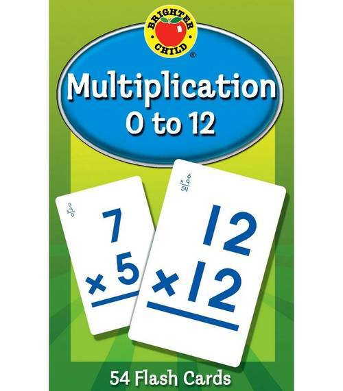 Multiplication 0 to 12 Flash Cards (Brighter Child)