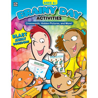 Brainy Day Activities Crosswords, Hidden Pictures, and More, Ages 6 +