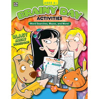 Brainy Day Activities Word Searches, Mazes, and More, Ages 6 +