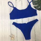 Sexy Pleated Women Swimsuit