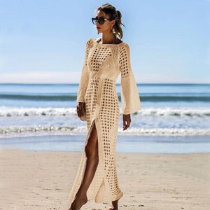 Crochet White Knitted Beach dress