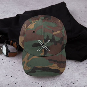 XRP Outline Logo Dad Hat - Camo